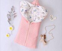 الطفل النوم مغلفات حقيبة الرضع الشتاء عربة Sleepsacks Tthick الصلبة الدافئة لحديثي الولادة قمط التفاف 75 * 36CM محبوك غطاء