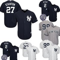 e85376c05 New York Yankees Giancarlo Stanton Jersey Men s Majestic Cool Base Player  Replica Jersey Embroidery Baseball Jerseys M-XXXL