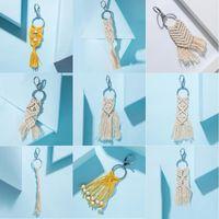 Mini Makramee Schlüsselanhänger böhmischen Taschenanhänger mit Quasten handgefertigten Zubehör für Autoschlüssel Geldbörse Telefon Brieftasche einzigartiges Hochzeitsgeschenk