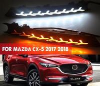 2 peças para Mazda CX-5 CX 5 2017 2018 LED 12V DRL Daytime Running luz Fog Lamp Decoração com estilo Signal Flowing Ligue Relé