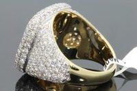 Sıcak satış yeni 18 K altın dolu elmas erkek yüzük; Avrupa ve Amerikan renk mikro kakma dişi halka toptan. Boyut 6-12