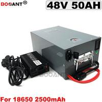 13S 20P 48V 50AH Batería de litio de bicicleta eléctrica para Bafang 2000W Motor 48V Bicicleta eléctrica scooter de ion-litio 48V + 5A Cargador