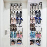 22 개 주머니 신발 스토리지 랙 뒤에 문 매달려 신발 비 짠 보관 홀더 가방 후크 접이식 신발 주최자 가방 DBC DH0964