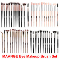 Make-up Pinsel Set Powder Foundation Lidschatten Pinsel Auge 12 Stück Augenbrauen Wimpern Eyeliner Mischpinsel MAANGE Kosmetikpinsel Make Up Kit