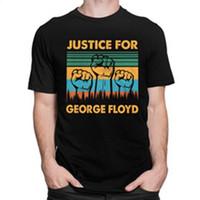 Justice pour George Floyd T-shirt manches courtes Homme Noir Matière T-shirt Lives O -Neck Fit T capotes Coton T -Shirt Merch