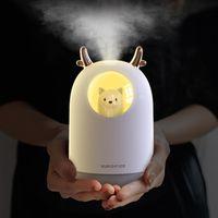 300ML Pet ultrasons USB Humidificateur d'air Moment Aroma Huile essentielle Diffuseur Cool Mist Maker brumisateur avec la lumière pour la salle de voiture
