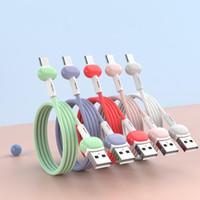 carica liquida cavo per Samsung Android di ricarica rapida magnete Caricabatterie Micro USB Tipo C cavo mobile Cavo telefonico Wire