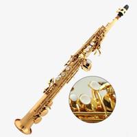 Prestazioni professionali di alta qualità Yanagisawa W02 New Musical Instruments laccato oro Top B Sassofono soprano