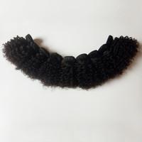 Malezyalı Brezilyalı bakire saç Kinky kıvırcık saç ucuz fabrika toptan eşya fiyat Hint Remy saç uzantıları atkı 6-12inch seksi eteğine örgüleri