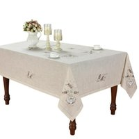 테이블 천 [동백 카사] 우아한 헴 스티치 튤립 식탁보, 특별히 처리 된 폴리 에스테르, 린넨 보이는 빨 수, 사각형 / 직사각형, 연회