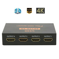 Ultra HD 4K HDMI Splitter 1X4 Porto 3D UHD 1080p 4K * 2K Vídeo Switch HDMI Switcher HDMI 1 Entrada 4 Output HUB Repetidor amplificador