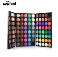Popfeel 120 Colors Gliltter Eyeshadow Palette ماتي ظلال العيون البليت تألق عارية المكياج لوحة مجموعة كيت بلسم