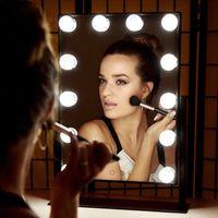 LED retroiluminada Vanidad Espejo de la lámpara de las bombillas Whit Make Up For Hollywood Tocador Toliet baño cosmetología cosmético del espejo