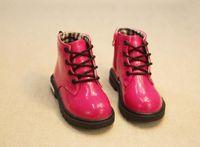 Çocuklar Martin çizmeler Sonbahar kış çocuk ayakkabı Yüksek Sneakers PU Deri Erkek kız Bebek kar botları boyutu 21-35