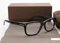الرجال النظارات البصرية الإطار توم 5176 مصمم العلامة التجارية الإطار اللوح الخشبي الكبير نظارات إطارات للمرأة ريترو قصر النظر نظارات إطارات واضح مع عدسة