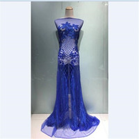 Ткань модный блестки французский чистый кружевной материал кисточкой с кисточкой для леди свадебное платье