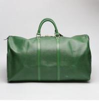 sport en plein air paquets créateur de mode Duffle sacs sur le sac de Voyage bagages vente de qualité réelle taille du sac polochon en cuir 45 50 55 60 cm