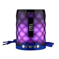 2019 altofalante TG155 Luz LED Bluetooth com mãos livres Mic apoio TF FM Mini LED luzes coloridas Lâmpada subwoofer impermeável ao ar livre