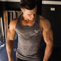 Fitness 2019 Gyms Tank Tops Hombres Chaleco Elástico O-cuello Gyms Tank Top Hombres Camisetas Sin Mangas Muscle Fitness Tops
