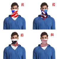 Außenreit Maske American Flag-Gesichtsmaske Anti-Staub Sonnenschutz atmungsaktiv Maske Digital 3D Printed Kopftuch Radfahren Masken CCA12143 120pcs