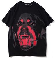 Lüks Tişört Hip Hop Moda 3D Red Dog Kafa Baskı Mens Tasarımcısı Tişört Kısa Kollu Yüksek Kalite Erkekler Kadınlar Tişört Tees