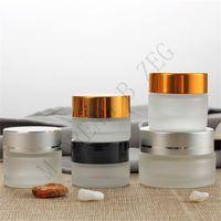 3 colores Vacío Ojo Crema Vidrio 5/10 / 15 / 20/30 / 50 g Cosmetic Eye Cream Jar Jar Cosmetic Bottle Contenedor Botellas de recarga Herramienta de maquillaje