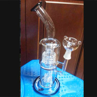 Glass Bongs With Bowl 2 Layers Tyre Percolator Oil Rigs Glas...