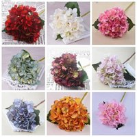 Artificial Flowers Hydrangea Flower Head Fake Silk Single Real Touch Hydrangeas Wedding Party Home Decorations 18 Color YSY303-L
