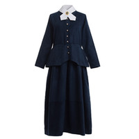 Mujeres adultas Vestido azul vintage Guerra civil victoriana Colonial Olden Day School Project Lady Harriet Tubman Traje de cosplay