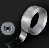 Herramienta de venta caliente Color transparente Doble lateral Gel extraíble Nano (sin cuadro de embalaje) Pad Grip Tape Viscosidad de doble cara