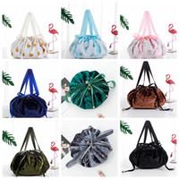 Ins Saco cosmético preguiçoso sacos de cordão de veludo sacos de maquiagem de desenhos animados organizador de armazenamento de armazenamento cosmético bolsa de cosméticos saco de saco de string gga3202