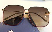 جديد مصمم الأزياء النظارات الشمسية 0394s إطار مربع بسيط شعبية نمط uv 400 نظارات حماية في الهواء الطلق للرجال والنساء