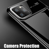 New pc Luxo caso de telefone Shock-Proof tampa traseira Protect Completo Para iPhone 11 pro Max XS 6 7 8 Samsung s10 Nota 10 S9