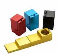 Super Metal Magnetic Cachimbo TinkSky Mini Tipo dobrável de metal Magnet cigarro de tabaco Tubulação de fumo Magnet dobrar 30pcs pip