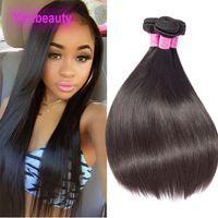 Extensiones del cabello humano de la Virgen Brasileño India peruana Malasia 10 Paquetes de cabello 8-28 pulgadas al por mayor 10pieces / lote pelo recto