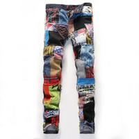 2017 Designer marca de luxo alta calças Europeia qualidade do algodão Jeans e americanos Casual Estilo Costura Pant masculinos Jeans