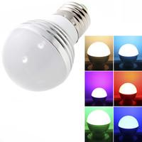 E27 3W RGB 전구 85-265V 홈 실내 조명 전구 LED 리모콘