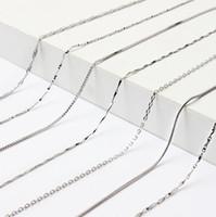 Basit Gümüş Dekorasyon 925 Standart Gümüş kolye Kore versiyonu Kilit zinciri kadın zincir kolye Takı