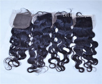 Medium Brown 4*4 Lace Closures Water Wave Hair Closures Natu...