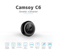 C6 Mini caméra wifi caméra IP P2P HD 720P Night Vision mini-enregistreur vidéo portable Petit support de caméra de détection de mouvement Boby portable