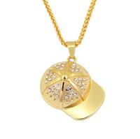 хип-хоп Бейсболки Подвеска ожерелья для мужчин женщин мужских кулонов золота серебра цепи ожерелья подарка ювелирных изделий
