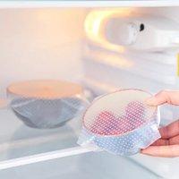 1 piece commestibile mantenere il cibo fresco Wrap riutilizzabile alta tratto in silicone alimentare avvolge guarnizione di vuoto di copertura Stretch Lid