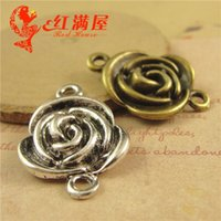 A4088 26*19MM Antique bronze plated zinc alloy Rose connecti...