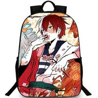 Todoroki Shoto backpack my Hero Academia day pack حقيبة مدرسية جيد packsack صورة حقيبة الظهر الرياضة المدرسية daypack