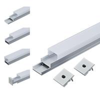 Profilo in alluminio a LED 6063 ha condotto la luce di striscia principale della parete incassata estrusione principale e la luce quadrata del canale per la plafoniera