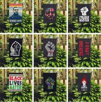 16 stilleri i 45 * 30CM 6089 geçit parti malzemeleri bahçe bayrak için evde açık Siyah Hayatlar Matter Bayrak bahçesinde bayrak nefes alamaz