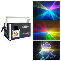 Professinal 3 Watt / 3000mW SD Card RGB Laser Show Luci DMX512 ILDA Con ishow Software in SD card