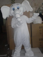 2019 Factory Outlets Hot Halloween White Elephant Mascot Costume Hoge Kwaliteit Cartoon Dier Anime Thema Karakter Christmas Carnival Fancy