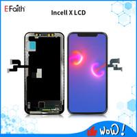 العرض LCD TFT Incell X الكمال الجودة للحصول على اي فون X شاشة تعمل باللمس استبدال أجزاء DHL شحن