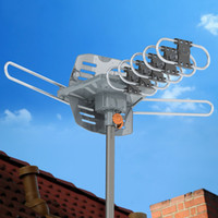 28- 36dB Outdoor TV Antenna Amplified HDTV 1080P High Gain UH...